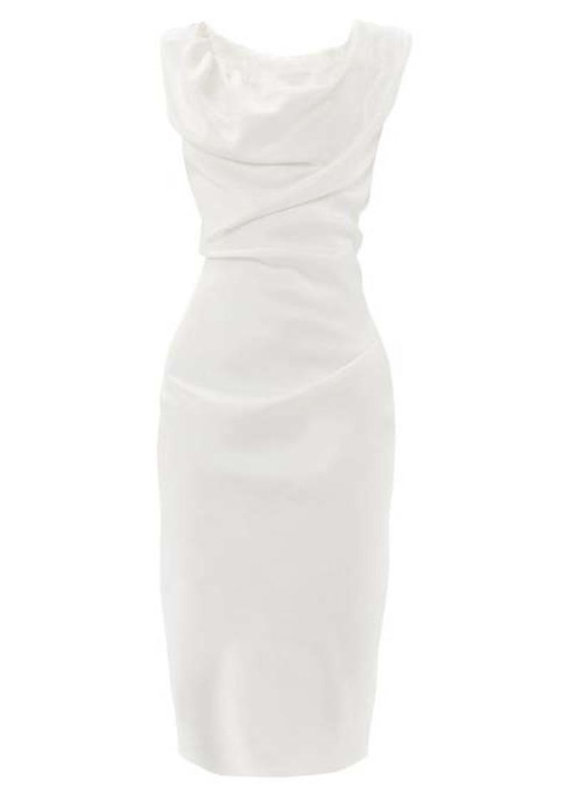Vivienne Westwood Ginnie draped satin dress