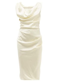 Vivienne Westwood Ginnie draped satin midi pencil dress