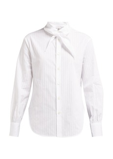 Vivienne Westwood Hals neck-tie pinstriped cotton-poplin shirt