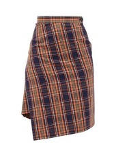 Vivienne Westwood Infinity asymmetric tartan cotton skirt