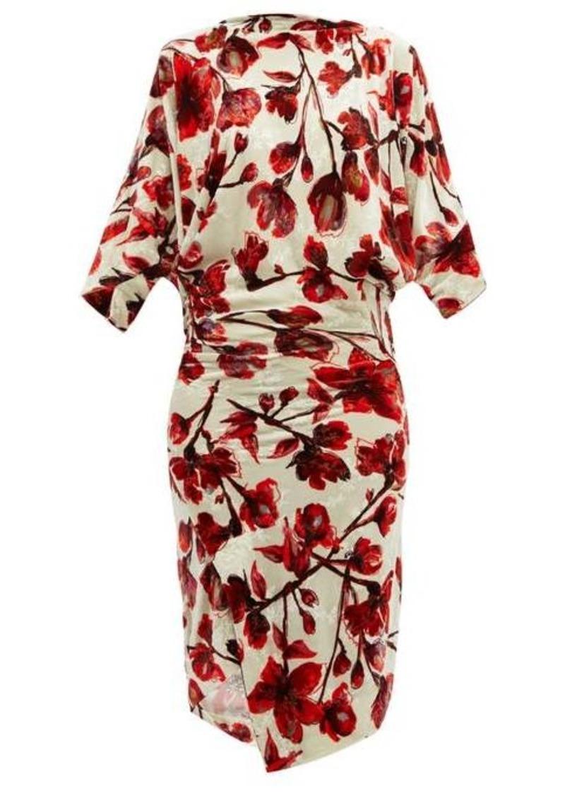 Vivienne Westwood Infinity floral-print draped velvet dress