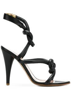 Vivienne Westwood knot strap sandals - Black