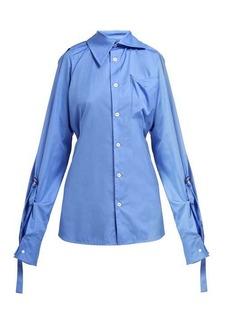 Vivienne Westwood Lottie asymmetric cotton-poplin shirt