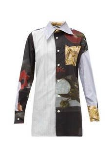 Vivienne Westwood Lottie Bosschaert-print oversized cotton shirt