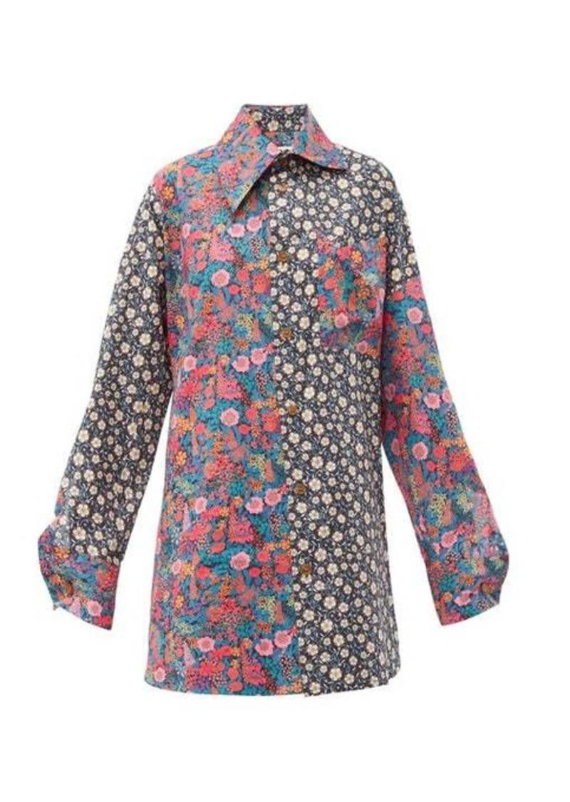 Vivienne Westwood Lottie oversized Liberty-print cotton shirt