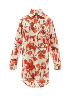 Vivienne Westwood Lottie rose printed silk-georgette shirt