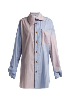 Vivienne Westwood Monti striped patchwork shirt