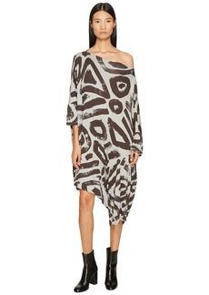 Vivienne Westwood Patron Printed Dolman Sleeve Dress