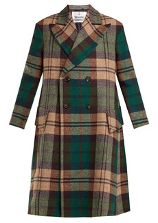 Vivienne Westwood Princess hecked Harris tweed coat