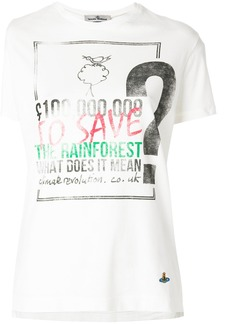 Vivienne Westwood Anglomania rainforest print T-shirt - White