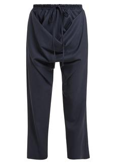 Vivienne Westwood Serge Tilke draped-front wool trousers