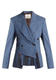 Vivienne Westwood Striped brushed-cotton cutaway blazer
