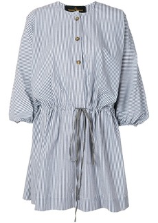 Vivienne Westwood Anglomania striped cotton shirt dress - Blue