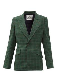 Vivienne Westwood Tartan-check wool-twill suit jacket