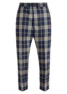 Vivienne Westwood Tartan wool cropped trousers