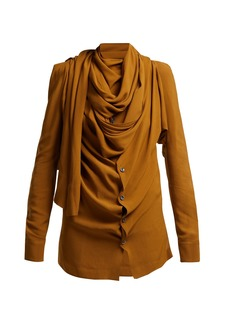 Vivienne Westwood Tie-neck crepe blouse