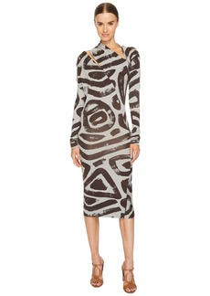 Vivienne Westwood Timans Printed Long Sleeve Dress