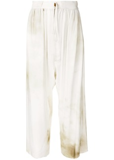 Vivienne Westwood Anglomania wide-leg flared trousers - White