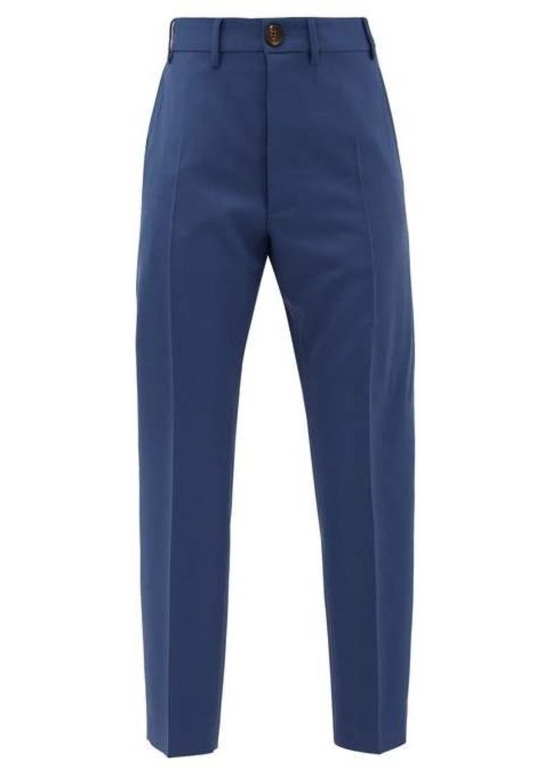 Vivienne Westwood Wool serge-twill slim-leg suit trousers