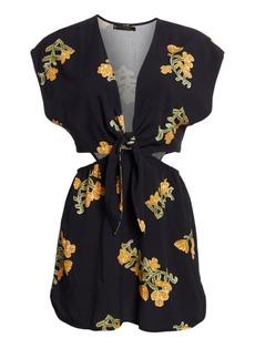 Vix Amber Floral Cut-Out Tunic Dress