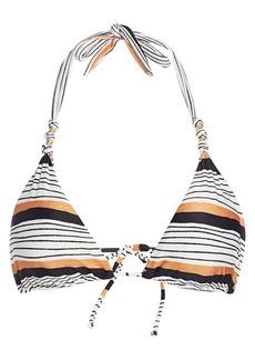 Vix Ava Striped Triangle Bikini Top