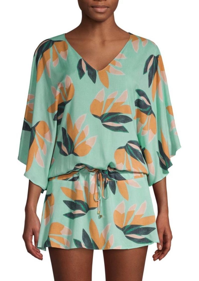 Vix Botanical-Print Blouson Dress