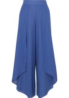 Vix Edna Layered Linen-blend Voile Wide-leg Pants
