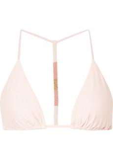 Vix Ella Bead-embellished Triangle Bikini Top
