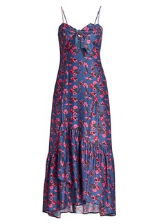 Vix Fiore Bia Floral Sweetheart Flounce Dress