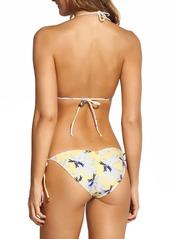 Vix Lily Yellow Ripple Triangle Bikini Top