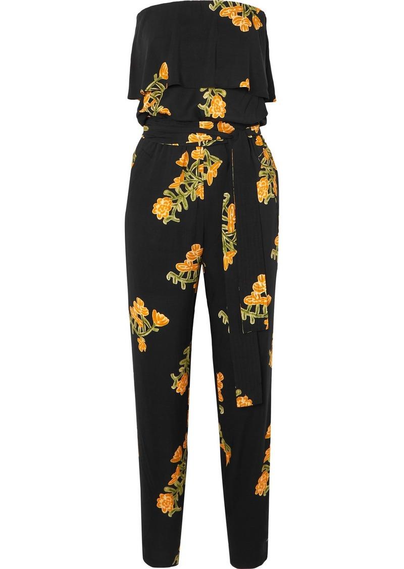 Vix Madi Strapless Floral-print Voile Jumpsuit