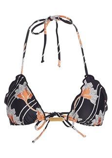 Vix Margot Ripple Triangle Bikini Top