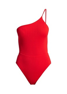 Vix Milano One-Shoulder Tie One-Piece Swimsuit