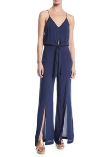 Vix Nora Sleeveless Split-Leg Sleeveless Jumpsuit
