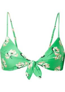 Vix Petals Knot Floral-print Bikini Top