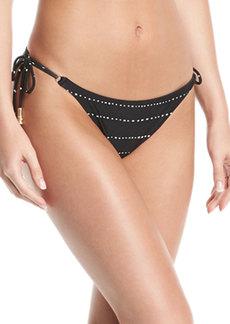 Vix Shaye Side-Tie Dot-Print Bikini Bottom