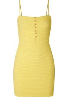 Vix Sunkisses Ribbed Stretch-jersey Mini Dress