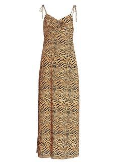 Vix Tiger-Print Cami Dress Cover-Up
