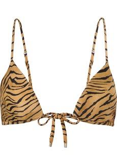 Vix Tiger-print Triangle Bikini Top