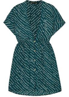 Vix Ventana Ocean Fuji Printed Voile Mini Dress
