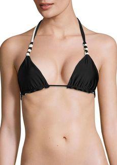 Vix Double Face Knot Reversible Bikini Top