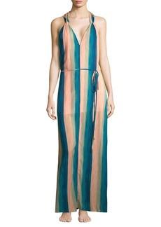 Vix Mani Julie Striped Maxi Dress