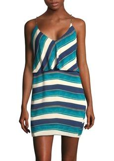 Vix San Andres Striped Mini Dress