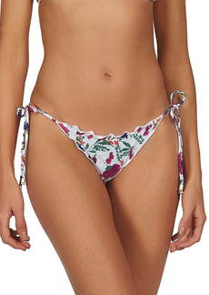 ViX Clover Ripple Ruffle Side Tie Bikini Bottoms