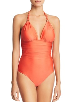 ViX Coral Bia One-Piece Swimsuit