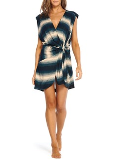 Vix Marissa Ombre Striped Knotted Coverup Caftan