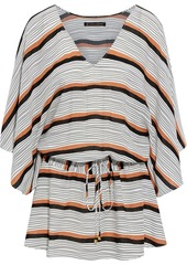 Vix Paula Hermanny Woman Ava Vintage Striped Voile Coverup Off-white