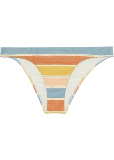 Vix Paula Hermanny Woman Basic Striped Low-rise Bikini Briefs Multicolor