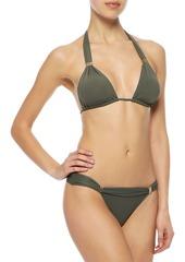 Vix Paula Hermanny Woman Bia Ruched Low-rise Bikini Briefs Army Green