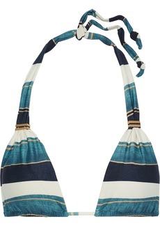 Vix Paula Hermanny Woman Bia Ruched Striped Triangle Bikini Top Multicolor